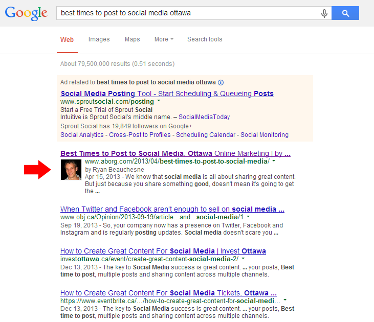 Google Authorship in Search Results
