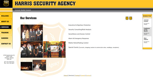 harris security old site
